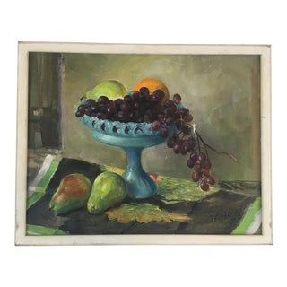 Vintage Fruit Display Oil Painting For Sale