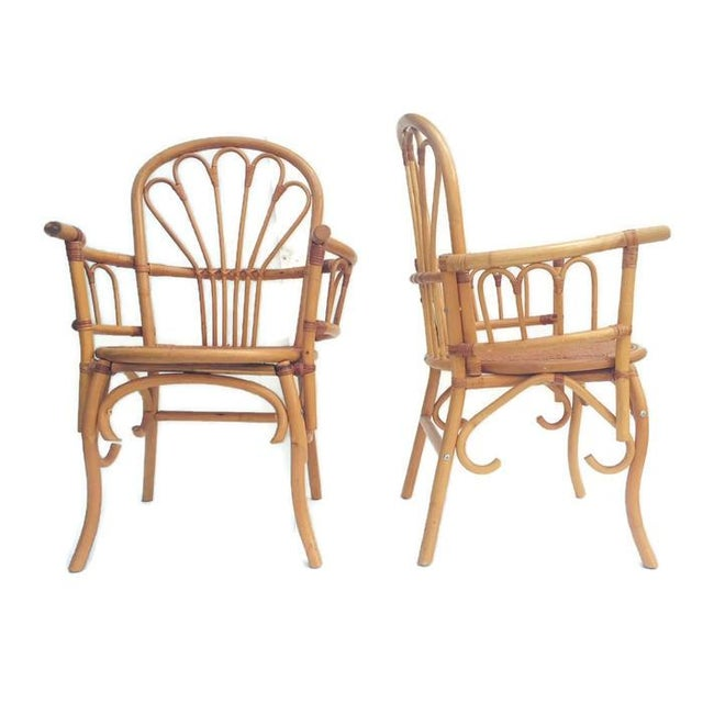 1980s Vintage Bent Bamboo Arm Chairs - a Pair For Sale In Richmond - Image 6 of 13