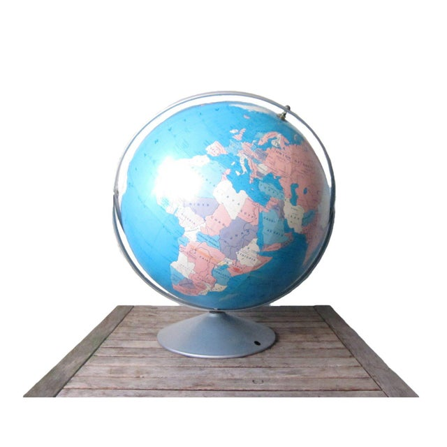 1970s Vintage Large Globe For Sale - Image 11 of 11