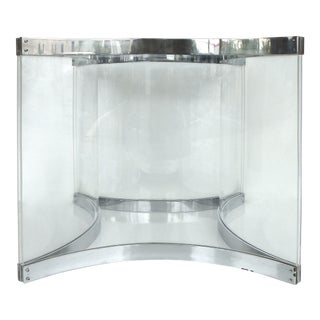 Alessandro Albrizzi Chrome & Lucite Dining Table Base