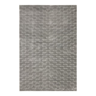 Loom Arya Fia Silver & Light Gray Bamboo Silk Rug - 3'11 X 6'0