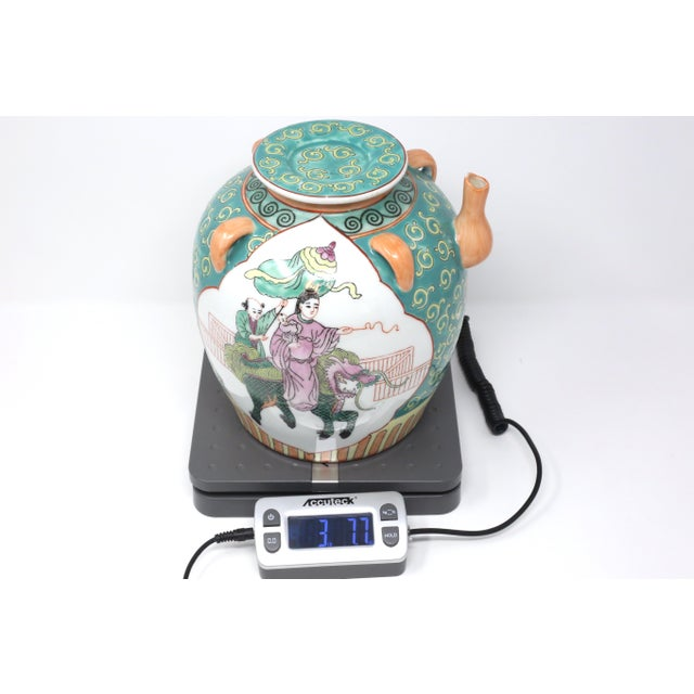Vintage Chinese Decorative Lidded Water Jug For Sale - Image 11 of 13