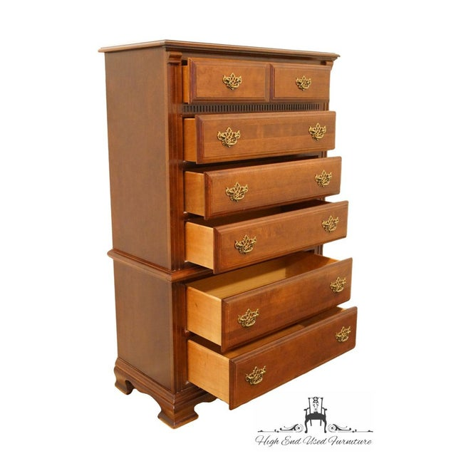 Late 20th Century Stanley Furniture Country French Chest on Chest For Sale In Kansas City - Image 6 of 13