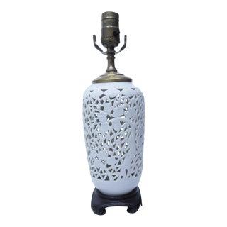 Blanc De Chine Porcelain Table Lamp For Sale