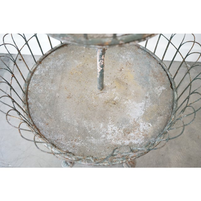 Early 20th Century Two-Tiered Iron Planter For Sale - Image 5 of 9
