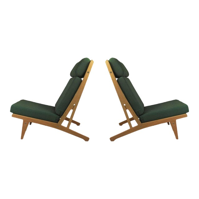 1960s Vintage h.j. Wegner Lounge Chairs- A Pair For Sale