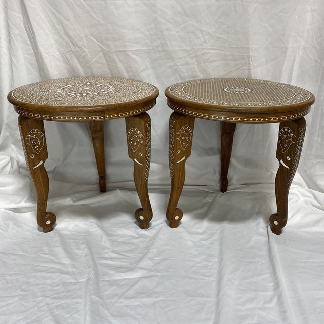 Anglo Indian Bone Inlay Side Tables - a Pair For Sale - Image 13 of 13