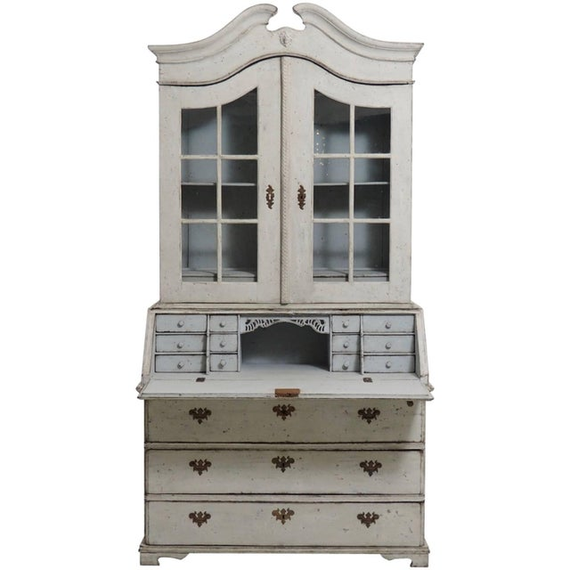 18th Century Swedish Baroque Two-Door Glass Cabinet For Sale In West Palm - Image 6 of 6