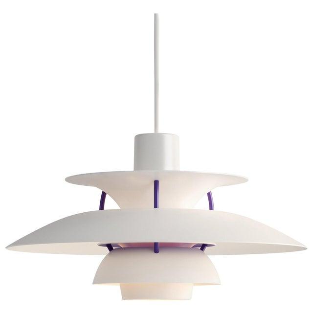 Louis Poulsen Poul Henningson 'Classic White' PH5 Mini Pendant for Louis Poulsen For Sale - Image 4 of 4
