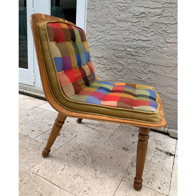 Boho Chic Mid Century Carter Brothers 200 Scoop Chair For Sale - Image 3 of 13