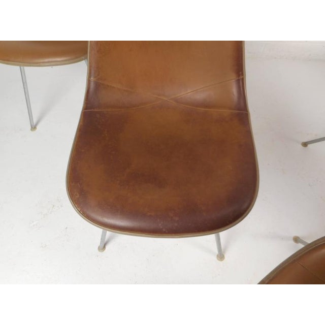 Mid-Century Modern Fiberglass Shell Chairs by Herman Miller - Set of 5 - Image 5 of 9