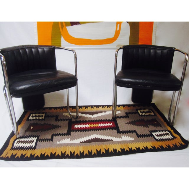 Poltrona Frau Leather Chairs- A Pair - Image 7 of 11