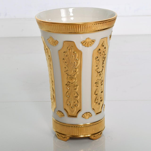 For Your Consideration A Rare Vintage LENOX Fine China 24k Gold Trimmed Vase from the 1960s Very Good Original Vintage...