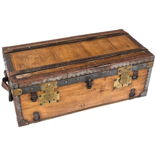Vintage French Travel Trunk, Circa 1920s For Sale