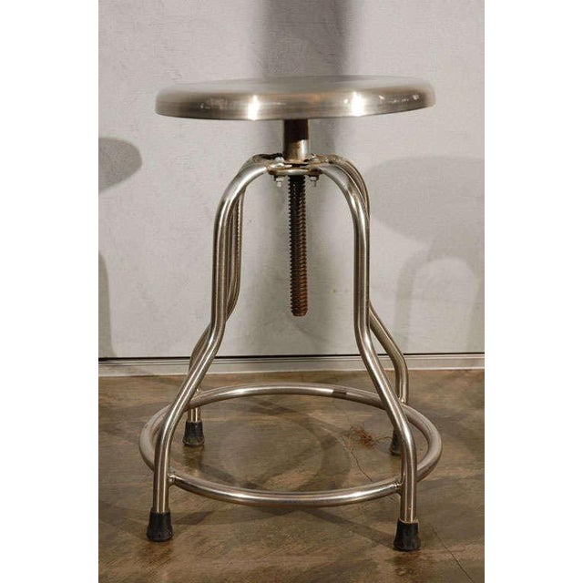 Vintage Stool With Adjustable Seat For Sale - Image 4 of 8