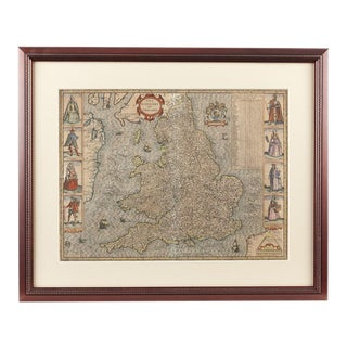 "John Speed ""The Kingdome of England"" Map For Sale"