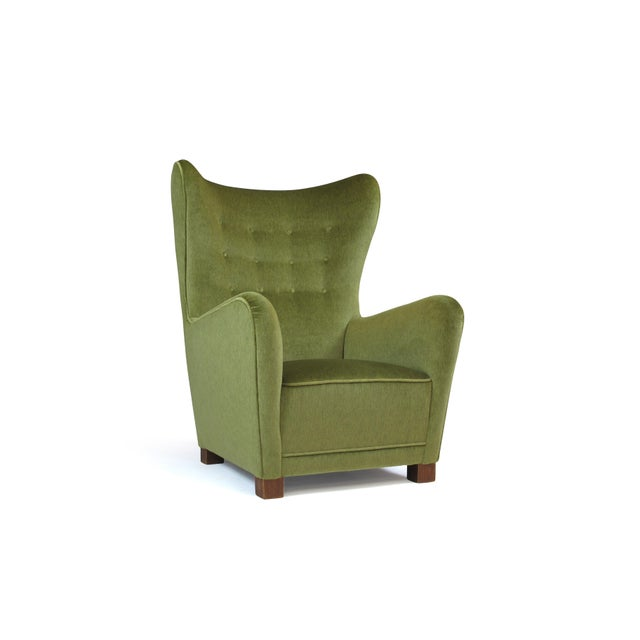 Metal 1942 Thorald Madsen for Fritz Hansen High Back Lounge Chair For Sale - Image 7 of 11