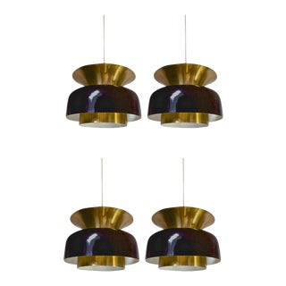 Jo Hammerborg Set of Four Pendant Light in Good Vintage Condition
