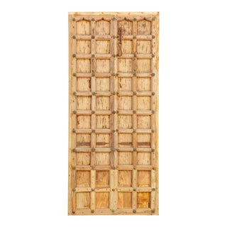 Antique Bleached Wood Spanish Badajoz Door For Sale