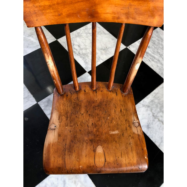 American Primitive Child's Windsor Chair - Image 2 of 5