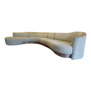 Weiman Preview Curved Serpentine Sectional Cloud Sofa For Sale