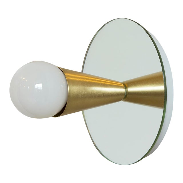 Echo 1 Sconce in Brass With Mirror-Backing by Souda For Sale