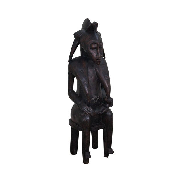 Hand Carved Tribal African Fertility Statue - Image 1 of 10