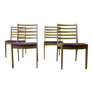Mid-Century Modern Scandinavian Maple Dining Chairs - Set of 4