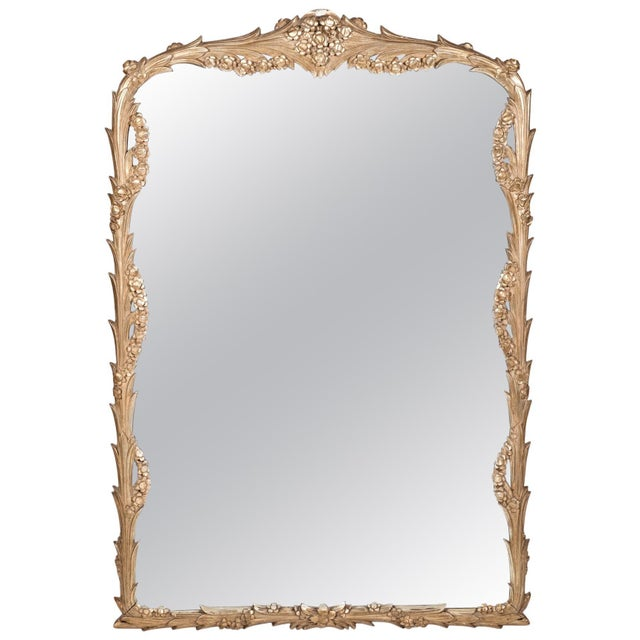 Giltwood Frame Mantel / Fire Place Wall Mirror For Sale - Image 9 of 9