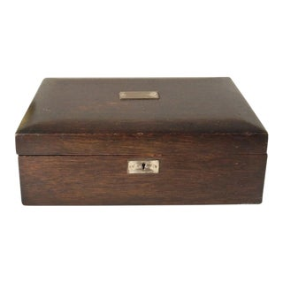 Vintage Wood Jewelry Trinket Box