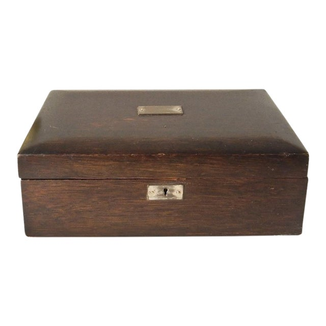 Vintage Wood Jewelry Trinket Box - Image 1 of 9