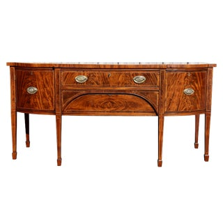 George III Mahogany and Satinwood Banded Sideboard