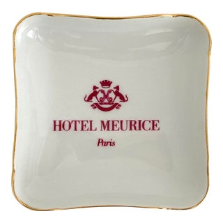 Hotel Meurice Paris Ashtray For Sale