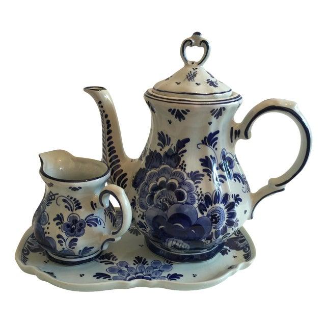 Delft Blue & White Coffee Set - Image 1 of 4