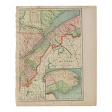 Image of Cram's 1907 Map of Quebec For Sale
