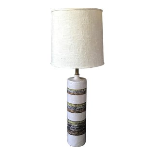1960s Brutalist Raymor in the Style of Fantoni Ceramic Table Lamp For Sale