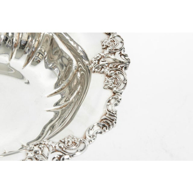 Vintage Silver Plate Fruit Bowl Piece For Sale - Image 11 of 13