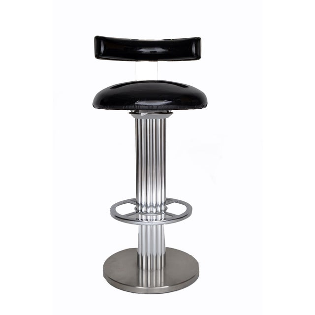 Metal Designs for Leisure Bar Stool For Sale - Image 7 of 9