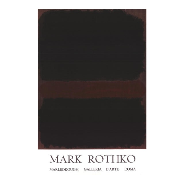 1970 Mark Rothko 'Marlborough Galleria d'Arte Roma' Abstract Black,Brown Lithograph For Sale