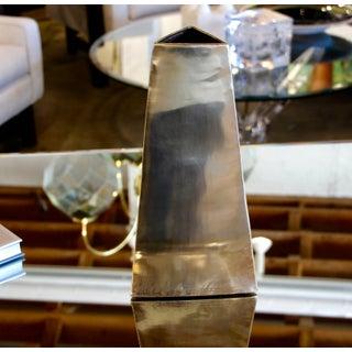 James Johnston Modernist Brass Vase Signed Preview