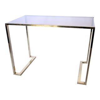 Brass & Glass Console For Sale