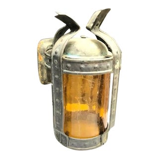 1930s-40s Railroad-Style Indoor/Outdoor Sconce For Sale