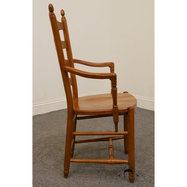 Wood Late 20th Century Vintage Tom Seely Cherry Ladder Back Dining Chair For Sale - Image 7 of 10