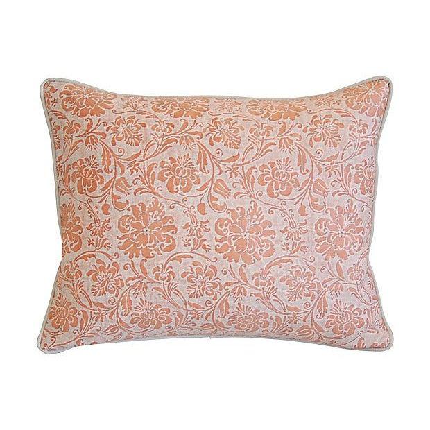 "Italian Italian Fortuny Cimarosa & Velvet Feather/Down Pillow 23"" X 18"" For Sale - Image 3 of 6"