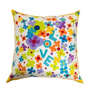1970s Yves Saint Laurent Silk Scarf Custom Pillow For Sale
