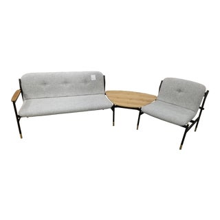 Modern West Elm Lounge Set For Sale