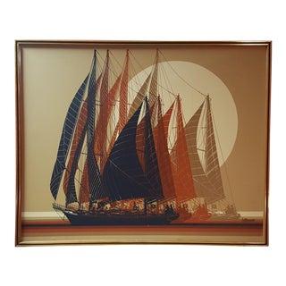 Letterman Sailboat Framed Art