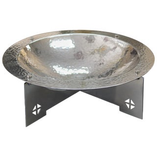 Silver Plated Bowl by Charles Gwathmey and Robert Siegel For Sale