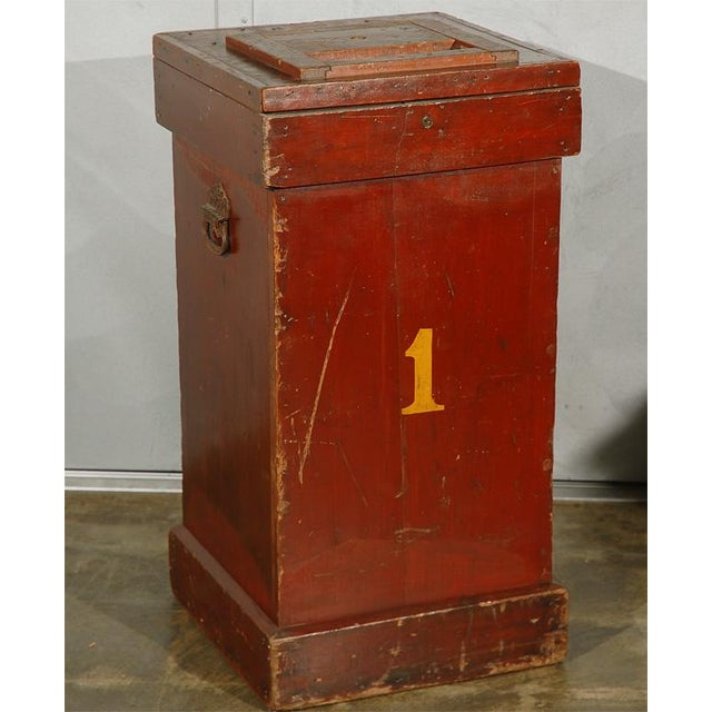 An American circus ticket-collectors box, circa the 1930's and said to be from a circus that toured the New England area....