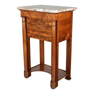 19th Century French Empire Period Walnut Side Table For Sale